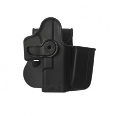IMI-Z1023 - Polymer Retention Holster with Integrated Magazine Pouch for Glock 17/19/22/23/28/31/32/36 Gen 4 Compatible