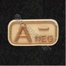 A-, Αυτοκόλλητο Σήμα από PVC (Μπεζ-Καφέ)