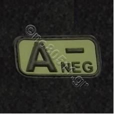 A -, Αυτοκόλλητο Σήμα από PVC (Χακί-Μαύρο)