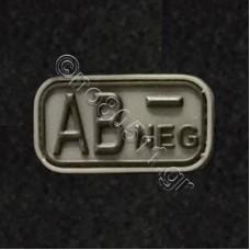 AB -, Αυτοκόλλητο Σήμα από PVC (Χακί-Μαύρο)