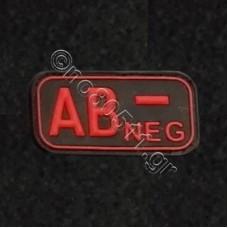 AB -, Αυτοκόλλητο Σήμα από PVC (Μαύρο-Κόκκινο)