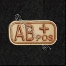 AB+, Αυτοκόλλητο Σήμα από PVC (Μπεζ)
