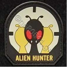 Alien Hunter, Αυτοκόλλητο Σήμα από PVC (Μαύρο-Λευκό)