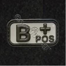 B +, Αυτοκόλλητο Σήμα από PVC (Γκρι-Μαύρο)