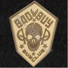 Bad Guy, Αυτοκόλλητο Σήμα από PVC (Μπεζ-Καφέ)