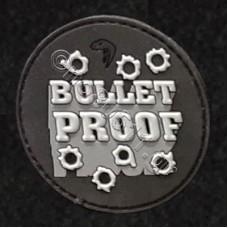Bullet Proof, Αυτοκόλλητο Σήμα από PVC (Μαύρο-Λευκό)