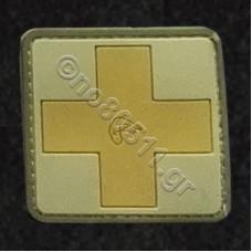 Cross, Αυτοκόλλητο Σήμα από PVC (Χακί)