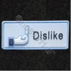 Dislike, Αυτοκόλλητο Σήμα από PVC (Μπλέ)
