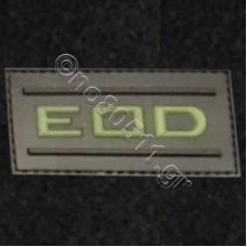 EOD, Αυτοκόλλητο Σήμα από PVC (Μαύρο-Χακί)