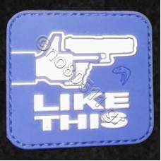 F Like This, Αυτοκόλλητο Σήμα από PVC (Μπλέ-Άσπρο)