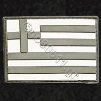 Flag, Αυτοκόλλητο Σήμα από PVC (Μαύρο-Άσπρο)