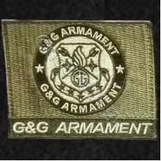 G & G Armament, Αυτοκόλλητο Σήμα από Ύφασμα (Χακί-Μαύρο)