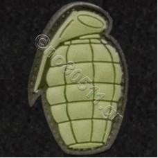 Grenade, Αυτοκόλλητο Σήμα από PVC (Χακί)