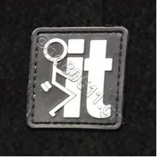 Fuck It, Αυτοκόλλητο Σήμα από PVC (Μαύρο-Λευκό)