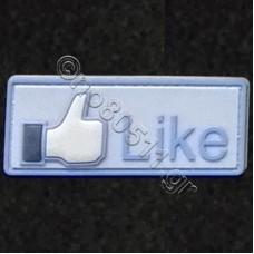 Like, Αυτοκόλλητο Σήμα από PVC (Μπλέ-Γαλάζιο)