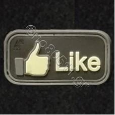 Like, Αυτοκόλλητο Σήμα από PVC (Μαύρο-Μπεζ)