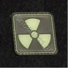 Nuke, Αυτοκόλλητο Σήμα από PVC (Μαύρο-Χακί)