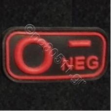 0-, Αυτοκόλλητο Σήμα από PVC (Μαύρο-Κόκκινο)