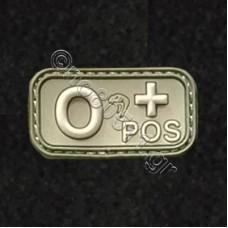 0+, Αυτοκόλλητο Σήμα από PVC (Χακί)