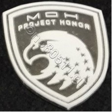 Project Honor, Αυτοκόλλητο Σήμα από PVC (Μαύρο-Λευκό)