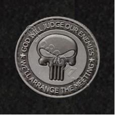 Punisher Skull, Αυτοκόλλητο Σήμα από PVC (Μαύρο-Γκρι)
