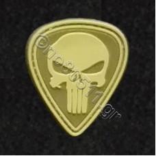 Punisher Skull, Αυτοκόλλητο Σήμα από PVC (Χακί)