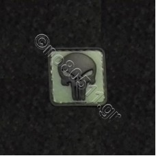 Punisher Skull, Αυτοκόλλητο Σήμα από PVC (Μαύρο-Πράσινο)