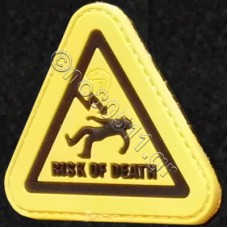 Risk Of Death, Αυτοκόλλητο Σήμα από PVC (Κίτρινο-Μαύρο)