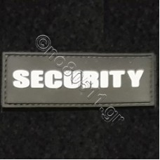 SECURITY BOLD LETTERS, Αυτοκόλλητο Σήμα από PVC (Μαύρο-Λευκό)