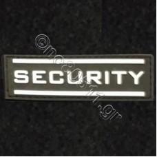 SECURITY REGULAR LETTERS, Αυτοκόλλητο Σήμα από PVC (Μαύρο-Λευκό)