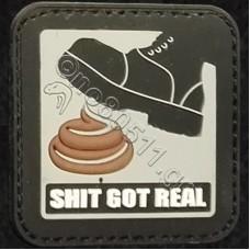 Shit Got Real, Αυτοκόλλητο Σήμα από PVC