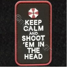Keep Calm And Shoot Them In The Head, Αυτοκόλλητο Σήμα από PVC