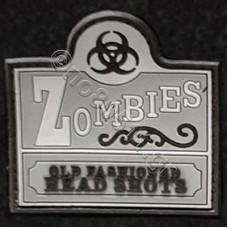 Zombies, Αυτοκόλλητο Σήμα από PVC (Γκρι-Μαύρο)