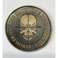 One Shot One Kill No Remorse Idecide PVC Patch