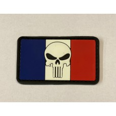 Flag of France-Skull Patch PVC